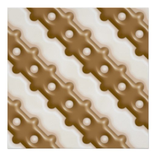 Rail Fence - Milk Chocolate and White Chocolate Poster