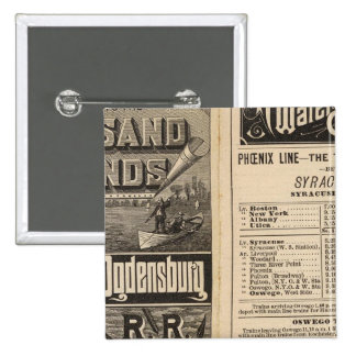 Rail Route to the Thousand Islands 15 Cm Square Badge