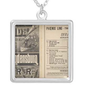 Rail Route to the Thousand Islands Silver Plated Necklace