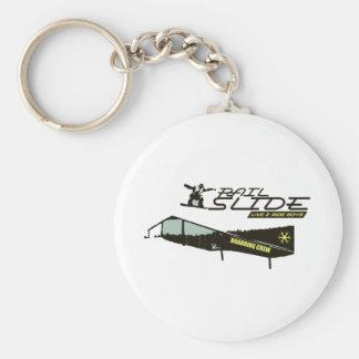 Rail Slide Basic Round Button Key Ring