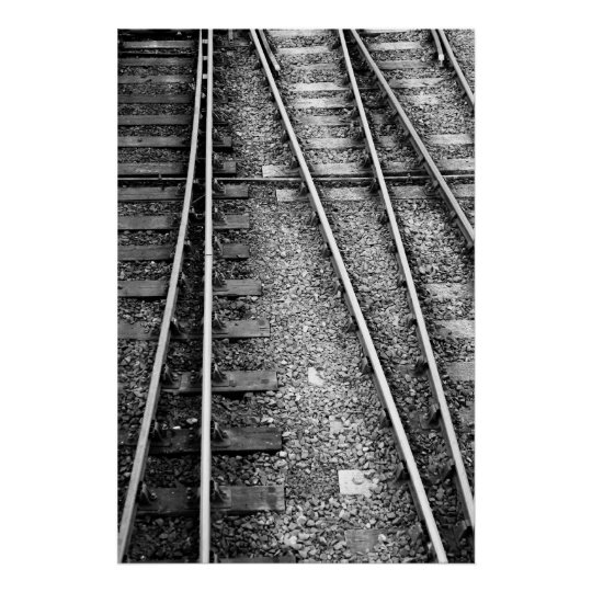 Rail track poster