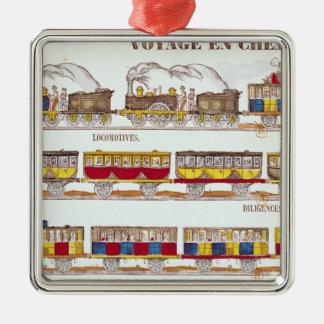 Rail Travel in 1845 Christmas Ornament