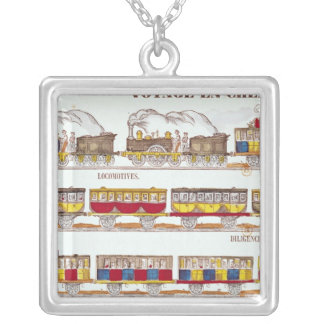 Rail Travel in 1845 Silver Plated Necklace