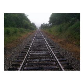 Rail traveler postcard