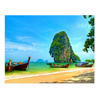 Railay Beach Krabi, Thailand Postcard