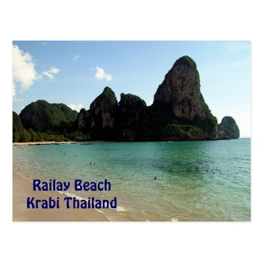 Railay Beach Krabi Thailand Postcard