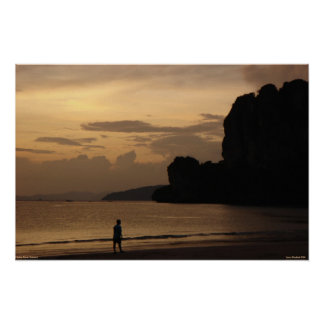 Railay Beach Sunset Poster