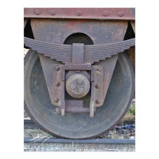 Railcar wheel full color flyer