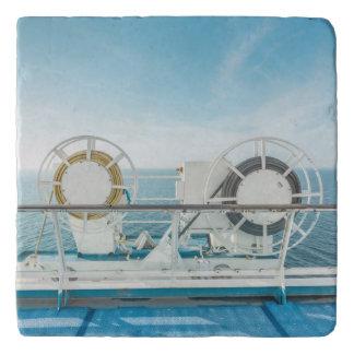 Railing Of A Cruise Ship Trivet