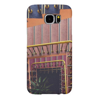 Railing Themed, Gold Railing Surrounds Spiral Stai Samsung Galaxy S6 Cases