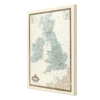 Railroad and Canals of British Isles Stretched Canvas Prints
