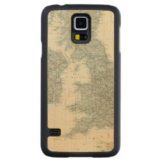 Railroad and Canals of British Isles Carved Maple Galaxy S5 Case
