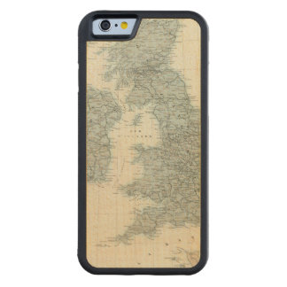 Railroad and Canals of British Isles Carved® Maple iPhone 6 Bumper Case