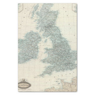 Railroad and Canals of British Isles Tissue Paper