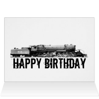 Railroad Birthday Card