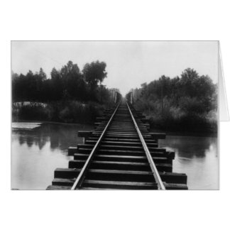 Railroad Bridge 1800's Card