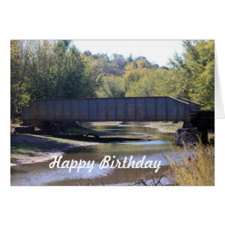 Railroad Bridge Birthday Card