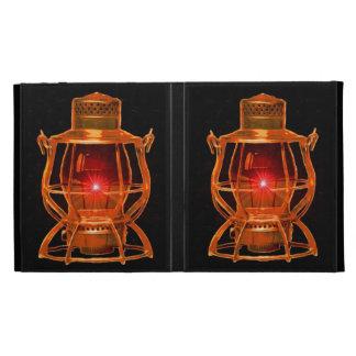 Railroad Copper Lantern iPad Folio Cases