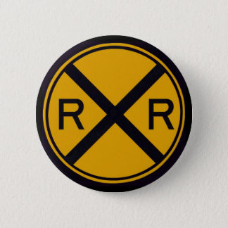 Railroad Crossing 6 Cm Round Badge