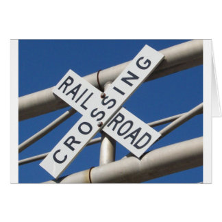 Railroad Crossing Card