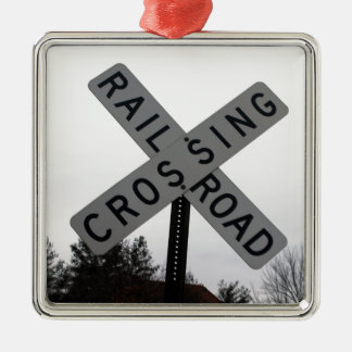Railroad Crossing Christmas Ornament