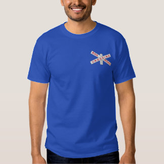 Railroad Crossing Embroidered T-Shirt