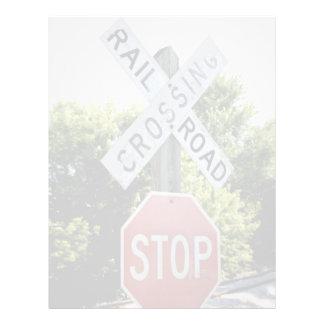 Railroad Crossing Personalized Flyer
