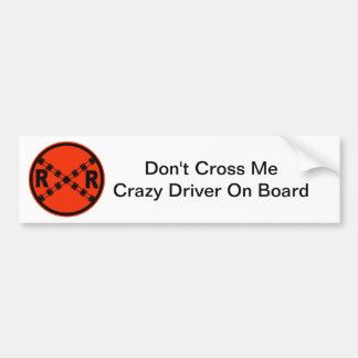 Railroad Crossing Highway Road Sign Bumper Sticker