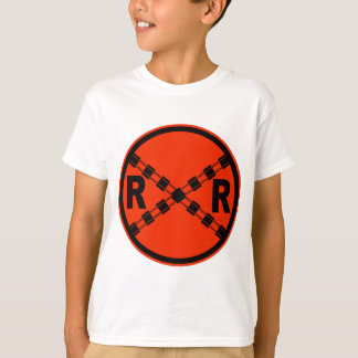 Railroad Crossing Highway Road Sign T-Shirt