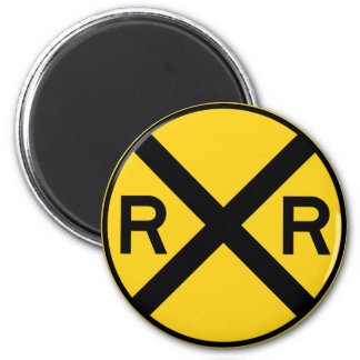 Railroad Crossing Highway Sign Magnet