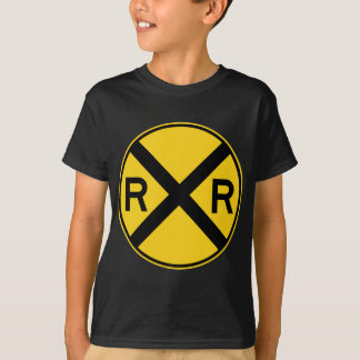 Railroad Crossing Highway Sign T-Shirt