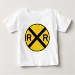 Railroad Crossing Highway Sign Tshirt