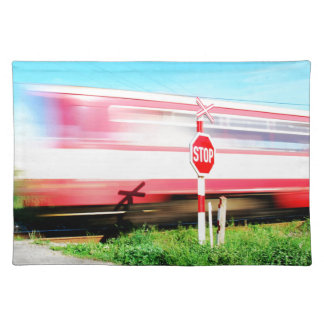 Railroad crossing placemat