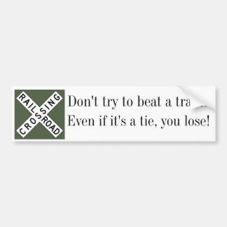 Railroad Crossing Safety Bumper Sticker