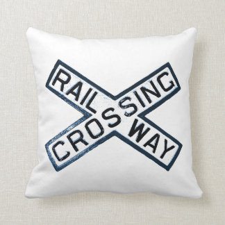 Railroad Crossing Sign Cushion