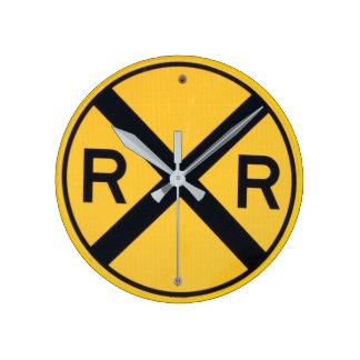 Railroad Crossing Sign Wallclock
