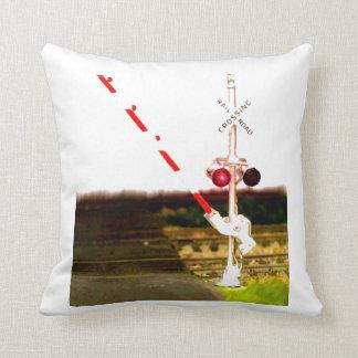 Railroad Crossing Signal And Railroad Tracks Cushion