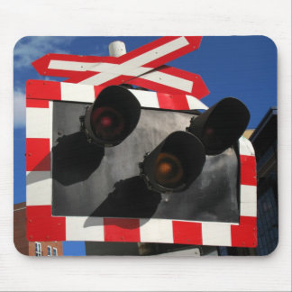 Railroad Crossing Signal Mouse Mat