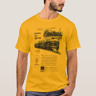 Railroad Diesel 1948 Electro Motive Gold T-Shirt