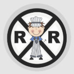 Railroad Engineer-Boy T-shirts and Gifts Round Sticker