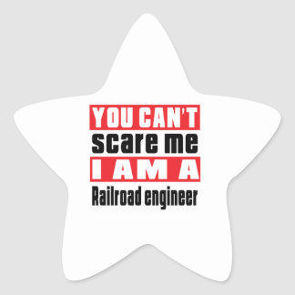 Railroad engineer (engine driver) scare designs star sticker