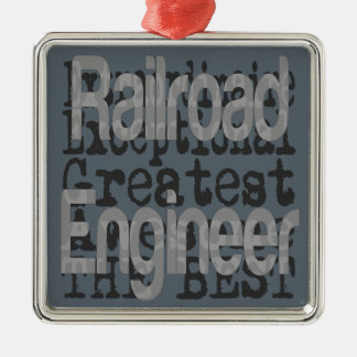 Railroad Engineer Extraordinaire Christmas Ornament