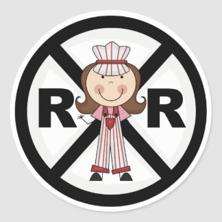 Railroad Engineer -Girl Tshirts and Gifts Classic Round Sticker
