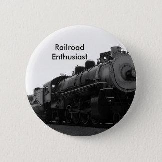 Railroad Enthusiast 6 Cm Round Badge