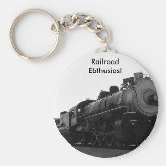 Railroad Enthusiast Basic Round Button Key Ring