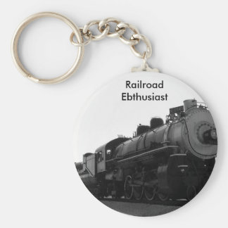 Railroad Enthusiast Key Ring