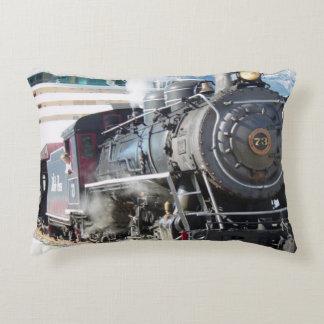 Railroad Locomotive design Decorative Cushion