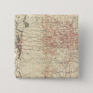 Railroad map US 15 Cm Square Badge