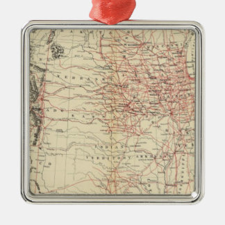Railroad map US Christmas Ornament