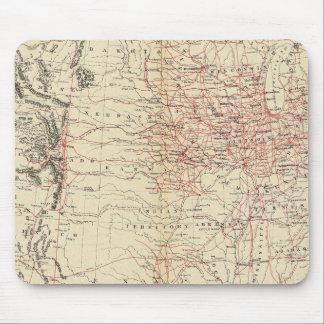 Railroad map US Mouse Mat